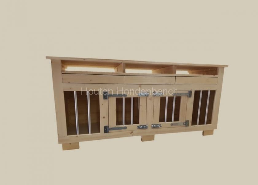 Houten Bench tv meubel met lades