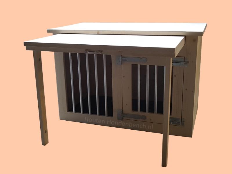 Hondenbench met tafelblad of als bureau