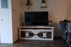 Honden Bench Tv meubel in White Wash 175 cm lang