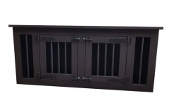 Hondenbench-meubel-woonkamer-in-zwart-bruin
