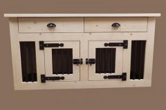 Hondenbench-van-hout-2-deurs-met-laden