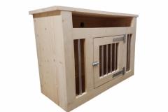 Houten hondenbench als een tv meubel met 1 deur