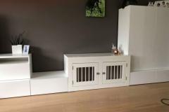 honden bench tussen bestaande kasten