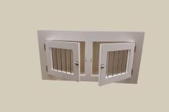 houtenbench wit met 2 deuren