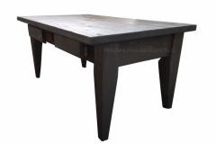 Kamer tafel in steigerhout met lades in kleur donker eiken